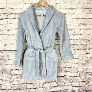 Girls Justice Gray Silver Robe Size 8/10